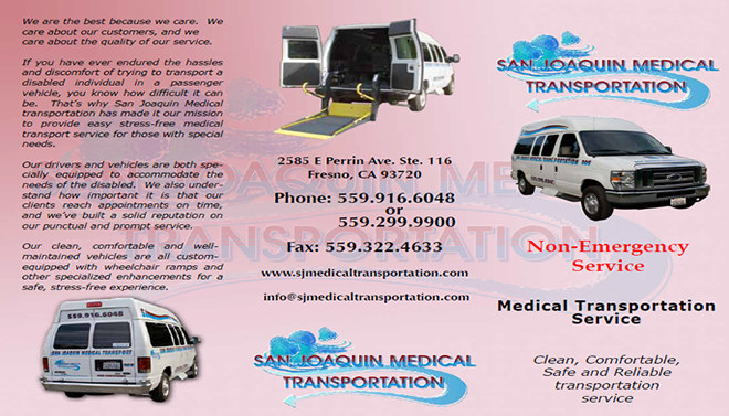 san joaquin medical transportation inc non emergency medical